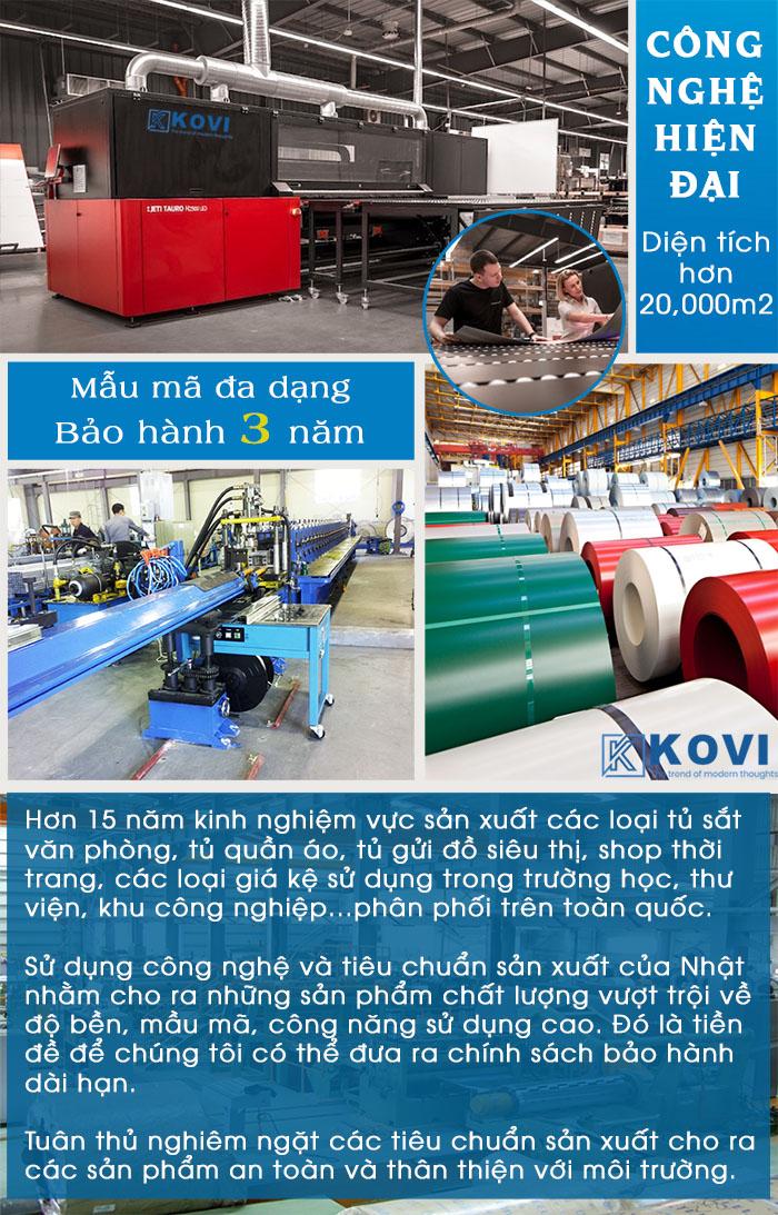 Nhà máy sản xuất tủ sắt văn phòng KOVI