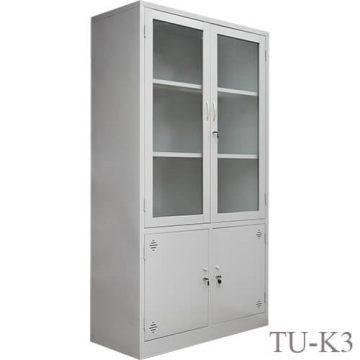 Tủ sắt văn phòng cánh kính TU-K3-001