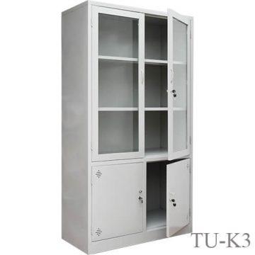 Tủ sắt văn phòng cánh kính TU-K3-03